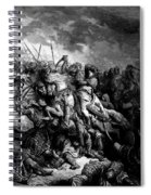 Richard I The Lionheart In Battle At Arsuf In 1191 1877 Spiral Notebook