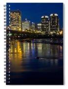 Richmond Night Skyline Spiral Notebook