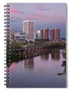 Richmond Skyline Sunset Pink Spiral Notebook