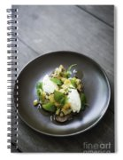 Ricotta And Salad With Herbs On Rye Bread Spiral Notebook