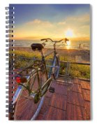 Ride Off Into The Sunset Spiral Notebook