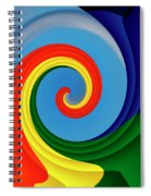 Ride The Wave - Colorful Digital Design Spiral Notebook