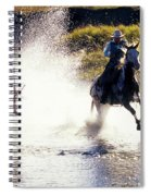 Riders In A Creek Spiral Notebook