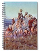 Riders Of The Open Range Spiral Notebook