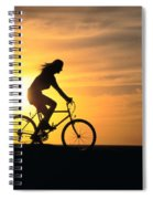 Riding At Sunset Spiral Notebook