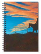 Riding Fence Spiral Notebook