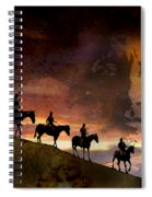 Riding Into Eternity Spiral Notebook