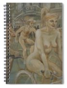 Riding Passed Burlington Arcade In June Spiral Notebook