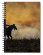 Riding The Fire Line Spiral Notebook