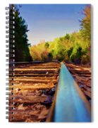 Riding The Rail Spiral Notebook
