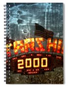 Night Ride On The Starship Spiral Notebook