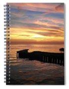 Riding The Sunset Spiral Notebook
