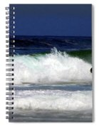 Riding The Waves At Asilomar State Beach Four Spiral Notebook