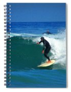 Riding The Waves At Asilomar State Beach Three Spiral Notebook