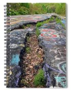 Rift In The Former Route 61 Spiral Notebook