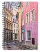 Riga Narrow Road Digital Painting Spiral Notebook