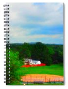 Right Field And Green Meadows Spiral Notebook