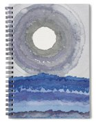 Rim Of The Moon Original Painting Spiral Notebook