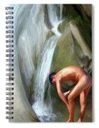 Rinsing Off Spiral Notebook