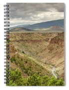 Rio Grande Gorge At Wild Rivers Recreation Area Spiral Notebook