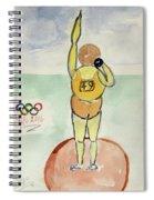 Rio2016 - Shot Putt Spiral Notebook