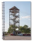 Rip Line Tower At Coba Village Spiral Notebook