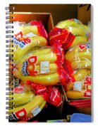 Ripe Bananas In A Box At The Store Spiral Notebook