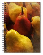 Ripe Pears And Two Persimmons Spiral Notebook