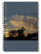 Ripple Clouds At Sunset Spiral Notebook