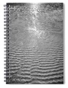 Rippled Light Spiral Notebook
