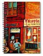 Ripples Ice Cream Factory Spiral Notebook
