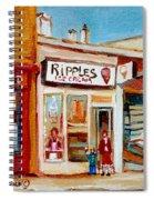 Ripples Icecream  Spiral Notebook