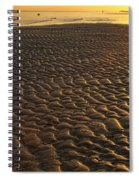 Ripples In The Sand Low Tide Golden Sunset Spiral Notebook