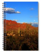 Rising Moon In Arizona Spiral Notebook