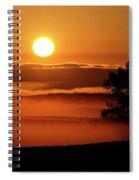 Rising Sun Lighting Ground Fog Spiral Notebook