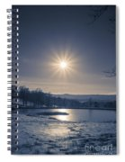 Rising Sun On A Cold Winter Morning Spiral Notebook