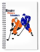 Rivalry Flyers Islanders Shirt Spiral Notebook