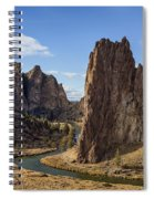 River And Rock Spiral Notebook