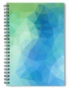 River Bank Geometric Design Spiral Notebook