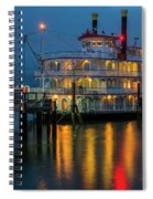 River Boat At Dusk Spiral Notebook