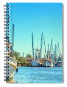 Darien Shrimp Boats Spiral Notebook