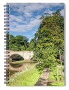 River Coquet Flows Under Warkworth Bridge Spiral Notebook