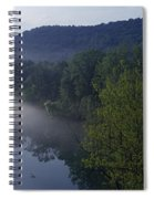 River Flowing In A Forest Spiral Notebook
