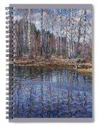 River Landscape Nikolai Petrovich Bogdanov-belsky Spiral Notebook