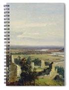 River Landscape With Castle Ruins Spiral Notebook