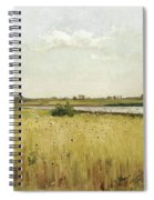 River Landscape With Cornfield Spiral Notebook