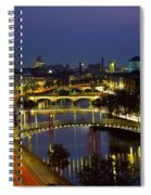 River Liffey Bridges, Dublin, Ireland Spiral Notebook