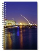 River Liffey In Dublin At Dusk Spiral Notebook