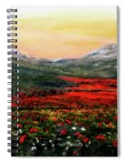 River Of Poppies Spiral Notebook