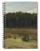 River On The Edge Of A Wood Spiral Notebook